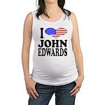 ilovejohnedwardsblk.png Maternity Tank Top