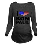 iloveronpaulblk.png Long Sleeve Maternity T-Shirt