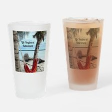 Hammock on the Beach - Retirement Drinking Glass
