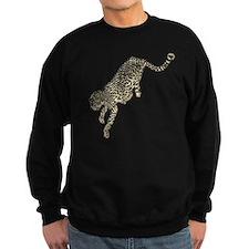 Jumping Tan Black Colored Cheetah Sweatshirt