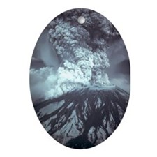 Mount St Helens Volcano Ornament (Oval)