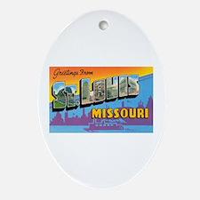 St. Louis Missouri Greetings Oval Ornament