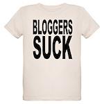 bloggerssuckblk.png Organic Kids T-Shirt