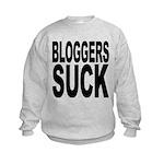 bloggerssuckblk.png Kids Sweatshirt