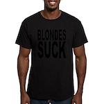 blondessuckblk.png Men's Fitted T-Shirt (dark)