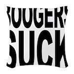 boogerssuckblk.png Woven Throw Pillow