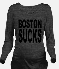 bostonsucksblk.png Long Sleeve Maternity T-Shirt