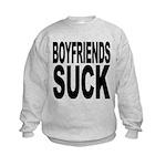 boyfriendssuckblk.png Kids Sweatshirt