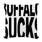 buffalosucks.png Woven Throw Pillow