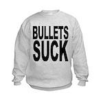bulletssuck.png Kids Sweatshirt