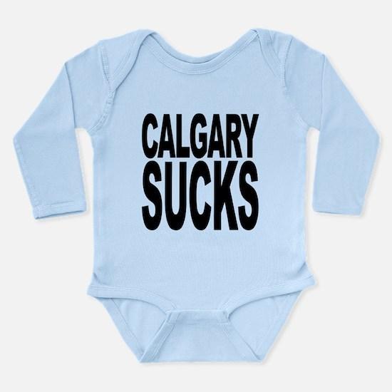 calgarysucks.png Long Sleeve Infant Bodysuit