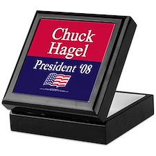 """Chuck Hagel for President"" Keepsake Box"