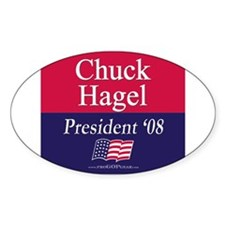 """Chuck Hagel for President"" Oval Decal"