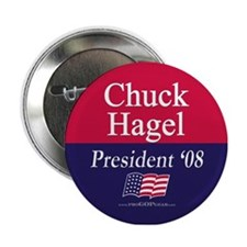 """Chuck Hagel for President"" Button"