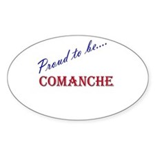 Comanche Oval Decal