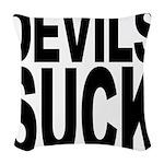 devilssuck.png Woven Throw Pillow