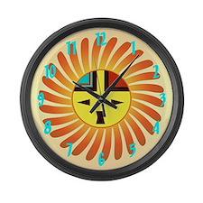 Sunface - Tawa Kachina Large Wall Clock