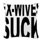 exwivessuck.png Woven Throw Pillow