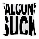 falconssuck.png Woven Throw Pillow