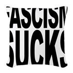 fascismsucks.png Woven Throw Pillow