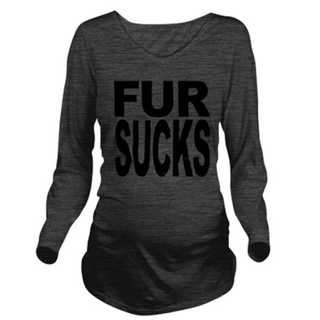 fursucksblk.png Long Sleeve Maternity T-Shirt