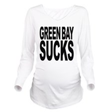 greenbaysucksblk.png Long Sleeve Maternity T-Shirt