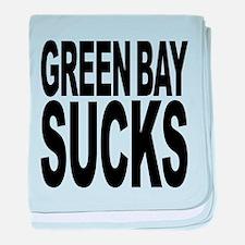greenbaysucksblk.png baby blanket