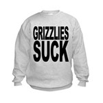 grizzliessuck.png Kids Sweatshirt