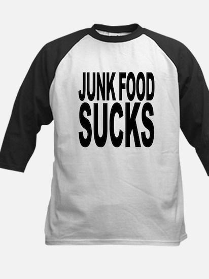 junkfoodsucks.png Kids Baseball Jersey