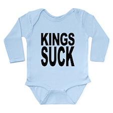 kingssuck.png Long Sleeve Infant Bodysuit