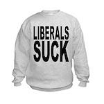 liberalssuckblk.png Kids Sweatshirt