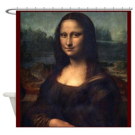 mona lisa shower curtain by antiquitees