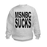 msnbcsucksblk.png Kids Sweatshirt