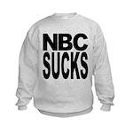 nbcsucksblk.png Kids Sweatshirt