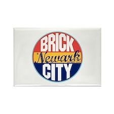 Newark Vintage Label Rectangle Magnet