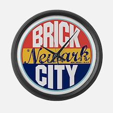 Newark Vintage Label Large Wall Clock
