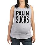 palinsucksblk.png Maternity Tank Top