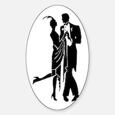 Elegant Retro 1920s Couple Dancing Decal