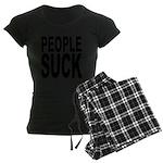 peoplesuckblk.png Women's Dark Pajamas