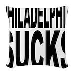 philadelphiasucks.png Woven Throw Pillow