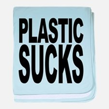 plasticsucksblk.png baby blanket