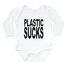plasticsucksblk.png Long Sleeve Infant Bodysuit