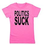 politicssuckblk.png Girl's Tee
