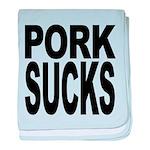 porksucks.png baby blanket