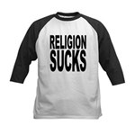 religionsucksblk.png Kids Baseball Jersey