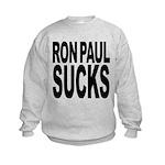 ronpaulsucksblk.png Kids Sweatshirt