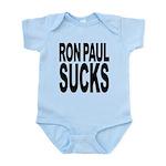 ronpaulsucksblk.png Infant Bodysuit