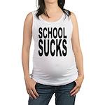 schoolsucksblk.png Maternity Tank Top