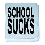 schoolsucksblk.png baby blanket
