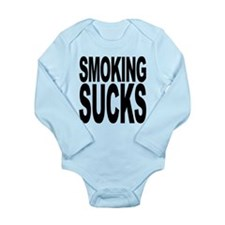 smokingsucksblk.png Long Sleeve Infant Bodysuit